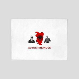 Autochthonous Albania 5'x7'Area Rug