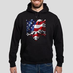 Albanian American Eagle Hoodie (dark)