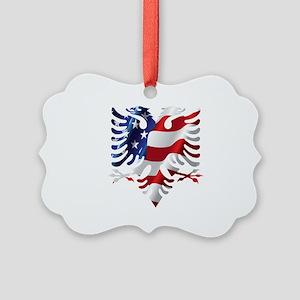 Albanian American Eagle Picture Ornament