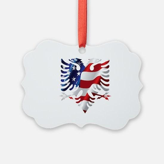 Albanian American Eagle Ornament