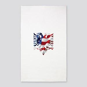Albanian American Eagle 3'x5' Area Rug