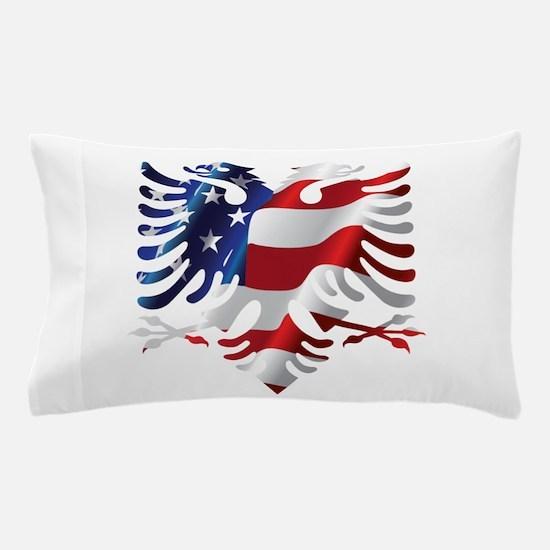 Albanian American Eagle Pillow Case