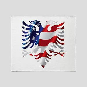 Albanian American Eagle Throw Blanket