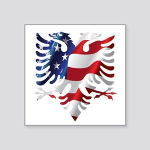 Albanian American Eagle Sticker
