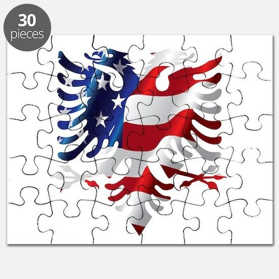 Albanian American Eagle Puzzle