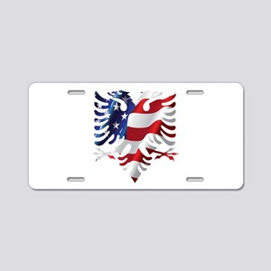 Albanian American Eagle Aluminum License Plate