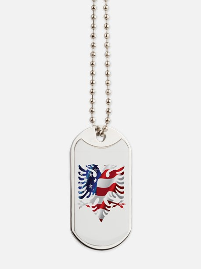 Albanian American Eagle Dog Tags
