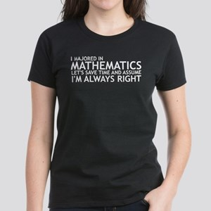 I Majored In Mathematics Women's Dark T-Shirt