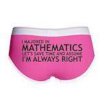 I Majored In Mathematics Women's Boy Brief