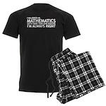 I Majored In Mathematics Men's Dark Pajamas