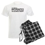 I Majored In Mathematics Men's Light Pajamas