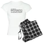 I Majored In Mathematics Women's Light Pajamas