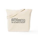 I Majored In Mathematics Tote Bag