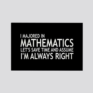 I Majored In Mathematics Rectangle Magnet