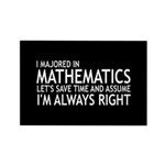 I Majored In Mathematic Rectangle Magnet (10 pack)