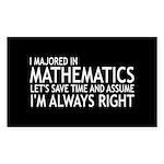 I Majored In Mathematics Sticker (Rectangle 10 pk)