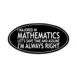 I Majored In Mathematics Patches