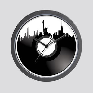 New York City Vinyl Record Wall Clock