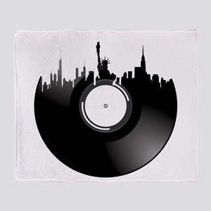New York City Vinyl Record Throw Blanket