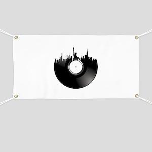 New York City Vinyl Record Banner