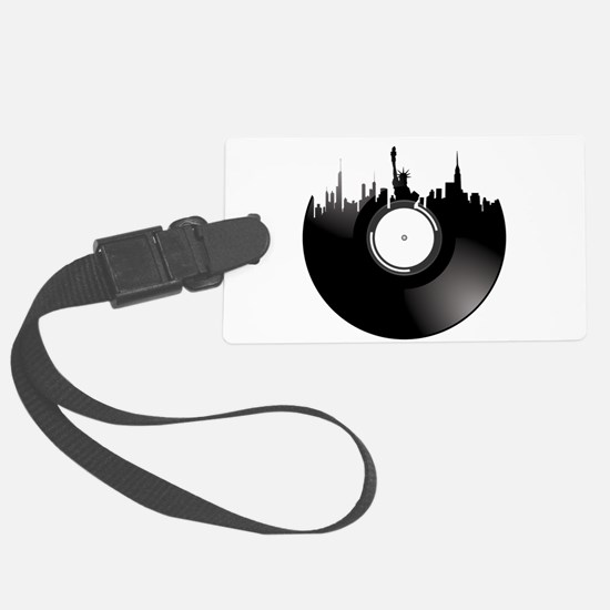 New York City Vinyl Record Luggage Tag