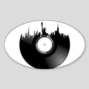 New York City Vinyl Record Sticker