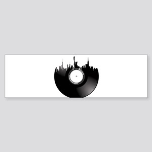 New York City Vinyl Record Bumper Sticker