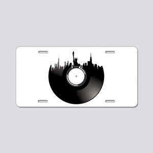 New York City Vinyl Record Aluminum License Plate