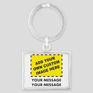 Custom Image & Message Landscape Keychain