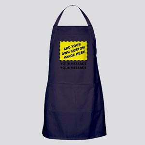 Custom Image & Message Apron (dark)
