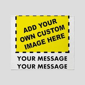 Custom Image & Message Throw Blanket