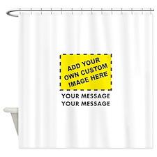 Custom Image & Message Shower Curtain