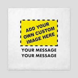Custom Image & Message Queen Duvet