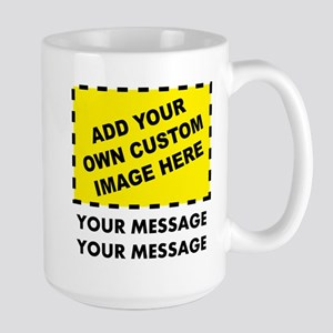Custom Image & Message Large Mug