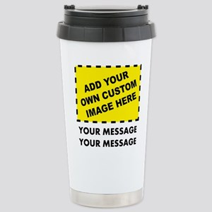 Custom Image & Message Stainless Steel Travel Mug