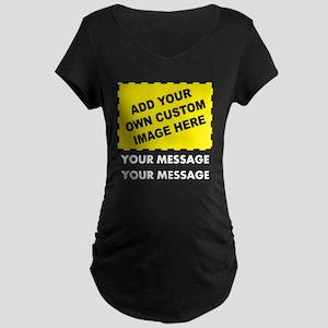 Custom Image & Message Maternity Dark T-Shirt