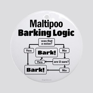 Maltipoo Logic Ornament (Round)
