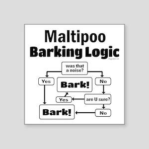 """Maltipoo Logic Square Sticker 3"""" x 3"""""""