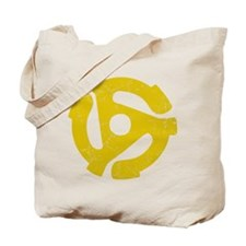 45 rpm record adapter. Tote Bag