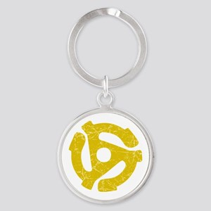 45 rpm record adapter. Keychains