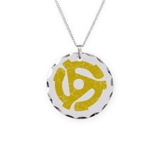 45 rpm record adapter. Necklace
