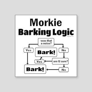 "Morkie Logic Square Sticker 3"" x 3"""