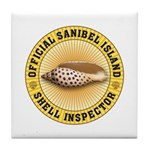 Sanibel Island Shell Inspector Tile Coaster