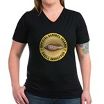 Sanibel Island Shell I Women's V-Neck Dark T-Shirt