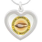 Sanibel Island Shell Inspect Silver Heart Necklace