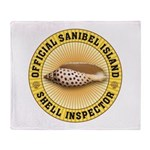 Sanibel Island Shell Inspector Throw Blanket