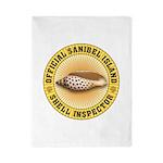 Sanibel Island Shell Inspector Twin Duvet