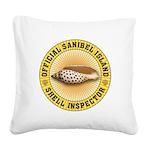 Sanibel Island Shell Inspecto Square Canvas Pillow