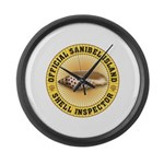 Sanibel Island Shell Inspector Large Wall Clock
