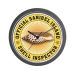 Sanibel Island Shell Inspector Wall Clock